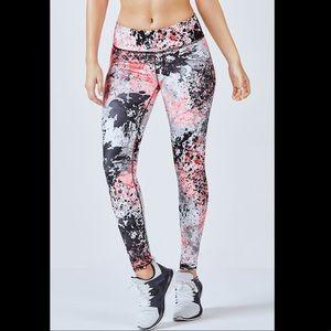 Pink Splatter Print Fabletics Salar Leggings XS